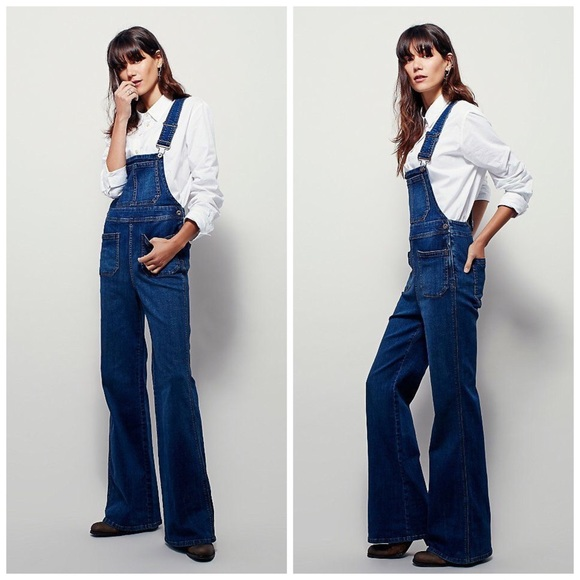 Free People Denim - Free People Teague Retro One Piece Denim Overalls